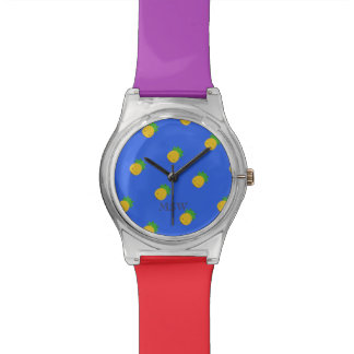 Pineapple print may28th colorful watch