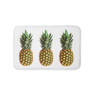 Pineapple print non slip bath mat for bathroom bath mats