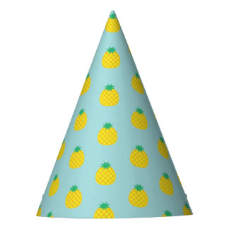 Pineapple Print Party Hat