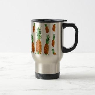 pineapple print polygonal pattern travel mug