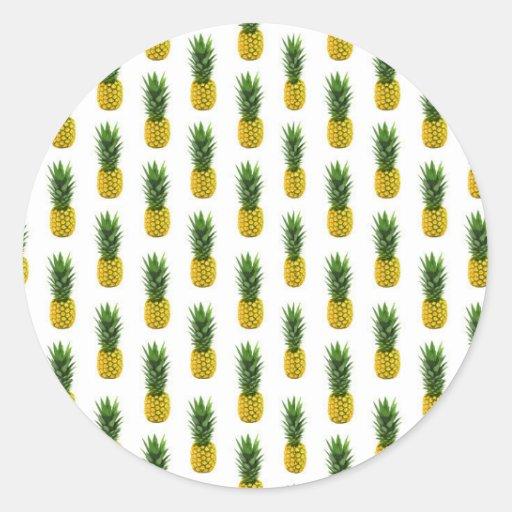 pineapple print sticker zazzle. Black Bedroom Furniture Sets. Home Design Ideas