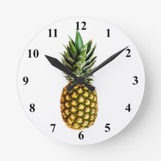 Pineapple print wall clock