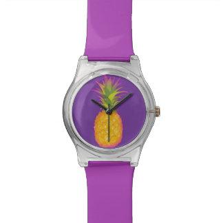 Pineapple - Purple Wrist Watch
