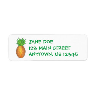Pineapple Return Address Labels