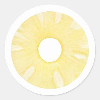 Pineapple ring round sticker