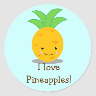 Pineapple Round Sticker