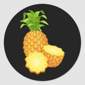 Pineapple Round Stickers
