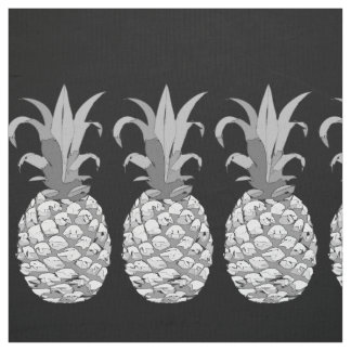 Pineapple Row Black and White on Your Color  ID239 Fabric