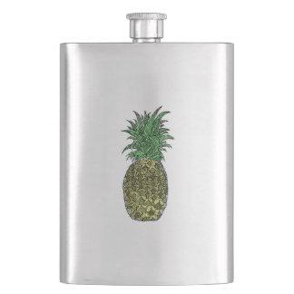 Pineapple Sketch Flask