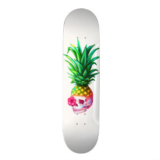 Pineapple Skull Board white Skateboard