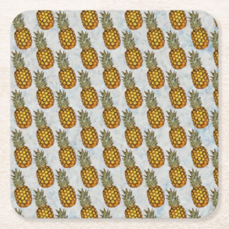 Pineapple Square Paper Coaster