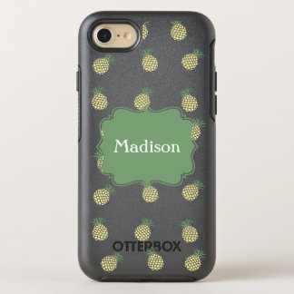 Pineapple Stamp Pattern OtterBox Symmetry iPhone 8/7 Case