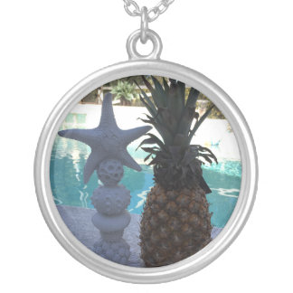 Pineapple Starfish Silver Plated Necklace