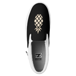 Pineapple Stencil Slip On Shoes