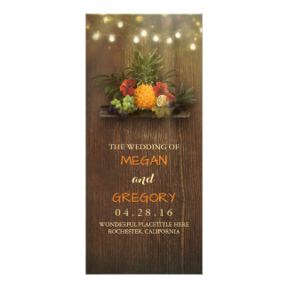 Pineapple Tropical Beach Lights Wedding Programs Rack Card