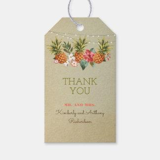 pineapple tropical beach wedding