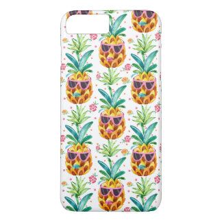PineApple & Tropical Flowers Pattern GR2 iPhone 7 Plus Case