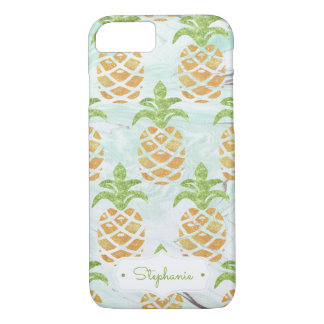 Pineapple Tropical Fruit Monogram | Personalized iPhone 8/7 Case