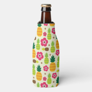 Pineapple Tropical Summer Seamless Pattern Bottle Cooler