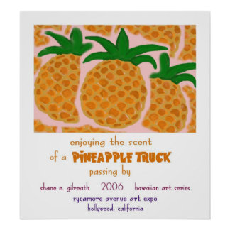 Pineapple Truck Poster