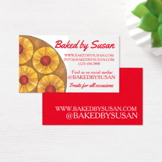 Pineapple Upside Down Cake Baked By Bakery Dessert Business Card