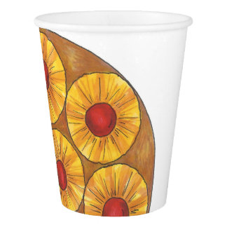 Pineapple Upside Down Cake Foodie Paper Cups