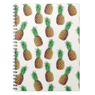 Pineapple Wallpaper Pattern Notebook