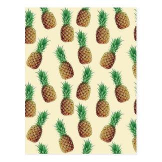 Pineapple Wallpaper Pattern Postcard