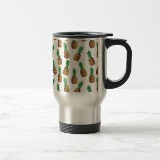 Pineapple Wallpaper Pattern Travel Mug