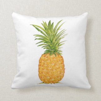 Pineapple Watercolor Throw Pillow