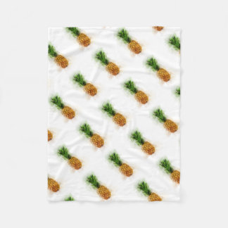 Pineapple Watercolor Fleece Blanket
