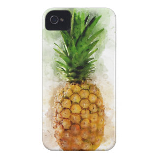 Pineapple Watercolor iPhone 4 Case