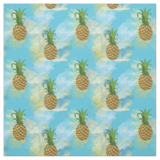 Pineapple Watercolor on Your Color  ID238 Fabric