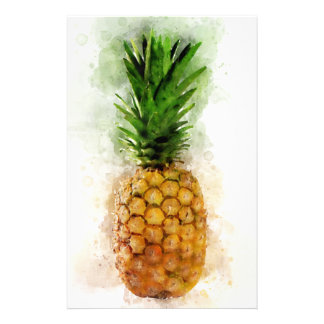 Pineapple Watercolor Stationery