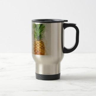Pineapple Watercolor Travel Mug