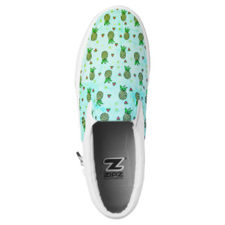 Pineapple Watermelon Lemon Tropical Fruit Sneaker Slip-On Shoes