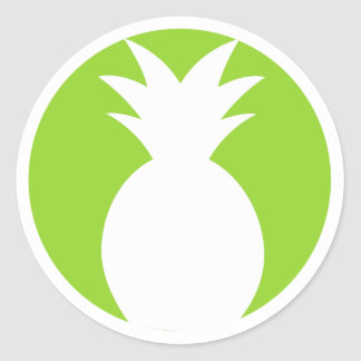 Pineapple Welcome Graphic Round Sticker