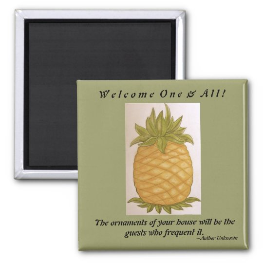 Pineapple Welcome magnet