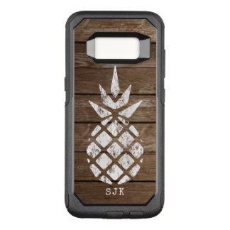 Pineapple, Whitewash on Weathered Wood OtterBox Commuter Samsung Galaxy S8 Case