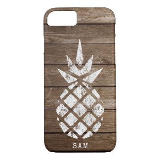 Pineapple, Whitewash on Wood iPhone 8/7 Case