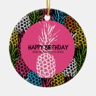 Pineapple Wild and Sweet Ceramic Ornament