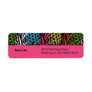 Pineapple Wild and Sweet Return Address Label