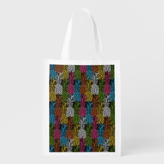 Pineapple Wild and Sweet Reusable Grocery Bag