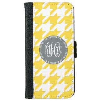 Pineapple Wt Houndstooth Charcoal 3I Vine Monogram iPhone 6 Wallet Case