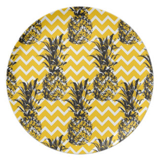 Pineapple Zigzags Dinner Plate