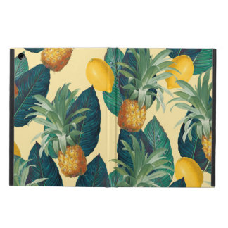 pineapples lemons yellow case for iPad air