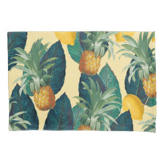 pineapples lemons yellow pillowcase
