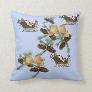 Pineapples of Christmas, sleighs and bows with Cushion