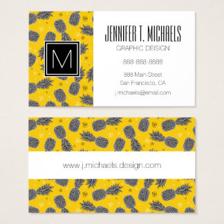 Pineapples On Gold | Add Your Name Business Card