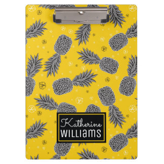 Pineapples On Gold | Add Your Name Clipboards